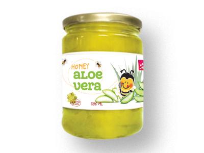 Aloe vera in honey